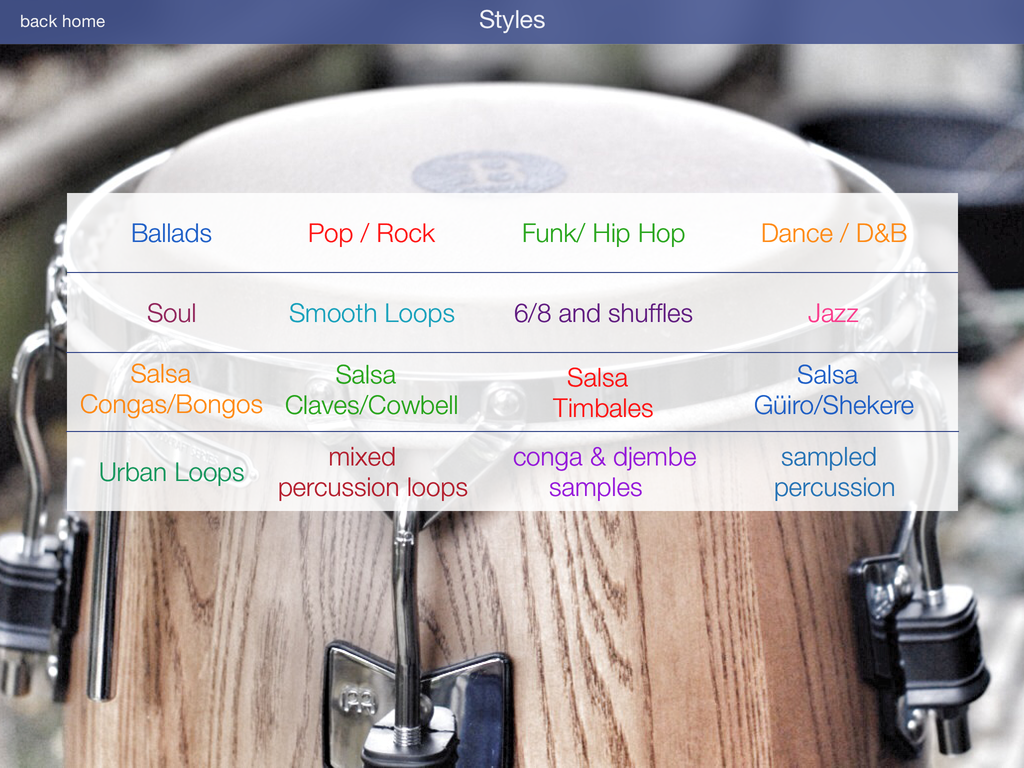Percussion Loops HD – iOS Apps For Musicians