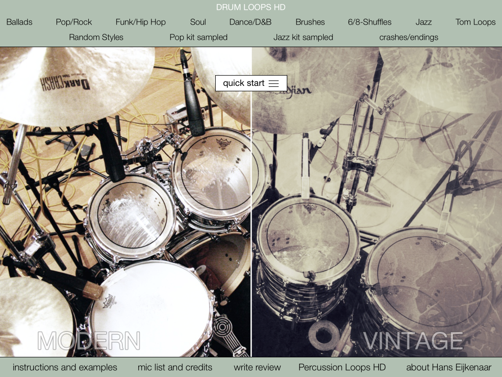 Drum Loops HD – iOS Apps For Musicians